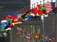 Flags of Member States in front of UN Headquarters. Photo: un.org