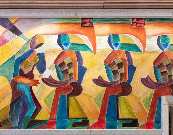 Bildet kan inneholde: moderne kunst, kunst, maleri, visuell kunst, mural.