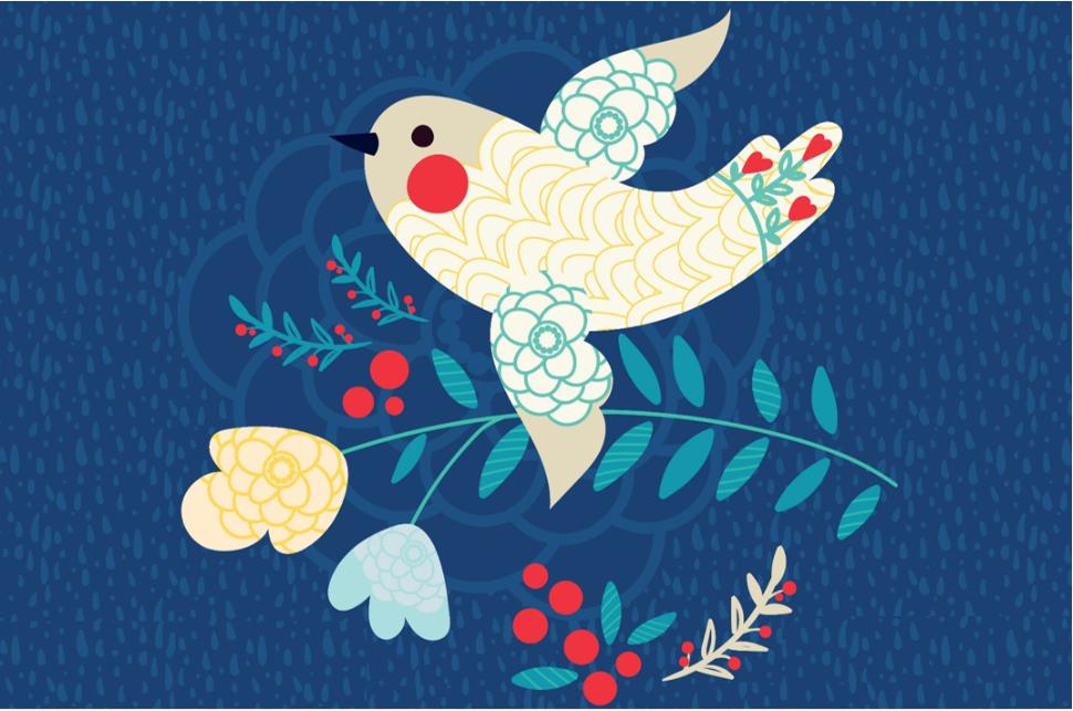 Illustrasjonsfoto av fredsdue: Colourbox