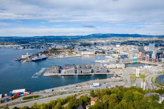 Bilde av Bjørvika, Oslo - luftbilde
