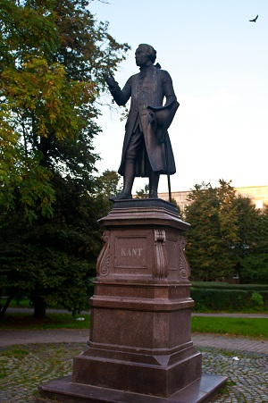 Statue of Immanuel Kant.