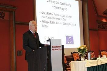 Philippe Boillat, Director General, Council of Europe; Closing session, Oslo Conference, April 2014; Source:UiO