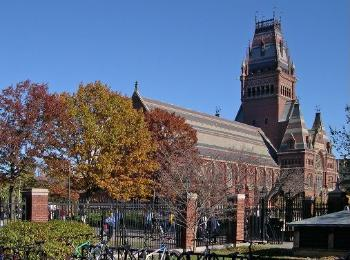 Harvard Memorial Hall at Harvard University.