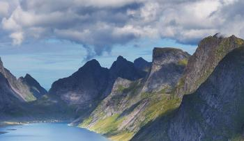 Lofoten. Mountain and sea