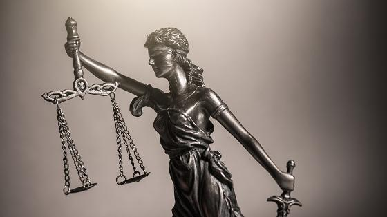 Stockp photo of a female justice figure