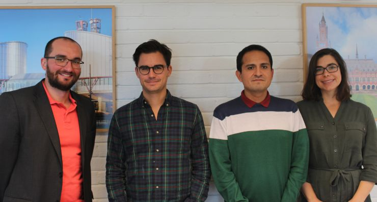 Photo of the four new postdoctoral fellows.