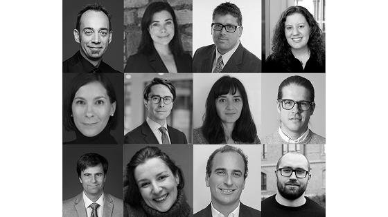 Collage of portraits of the work package leaders of the project