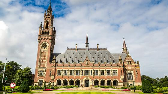 Image of the Peace Palace building in the Hague