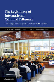 Cover of the book, image from an ongoing case at the International Criminal Court
