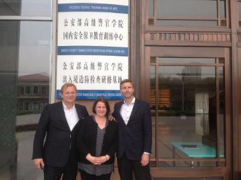 In 2016, the NCHR was invited to attend a roundtable on investigative interviewing in Beijing. Dr. Asbjørn Rachlew, NCHR researcher and superintendent of the Oslo police, introduced new Norwegian interviewing methods, referred to as K.R.E.A.T.I.V. These Norwegian interviewing methods have replaced more traditional interrogation techniques in criminal cases and will potentially become global standards. The presentation invoked a great interest and exchange of ideas for further cooperation. Photo: Dr. Ivar Farshing, Elisabeth Bjørnstøl, NCHR head of equality, and police superintendent Dr. Asbjørn Rachlew at the police academy in Beijing.